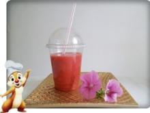 Birne-Banane-Erdbeeren Smoothie - Rezept