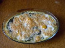 Spinat mit Spiegelei und Kartoffelpürree...mal anders.... - Rezept