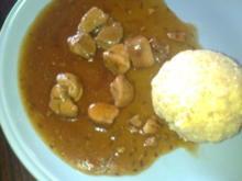 -Hauptmahlzeit- Schweinebraten-Gulasch - Rezept