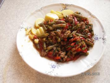 Bohnen-Hackfleischgemüse - Rezept