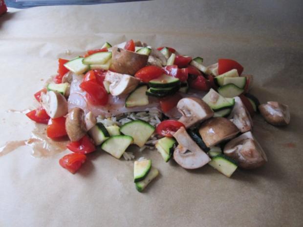 Zander auf Reis mit Gemüse - Rezept - Bild Nr. 4