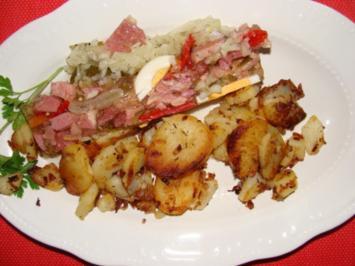 Fleisch : Premium Sülze aus der gepökelten Schweinehaxe - Rezept