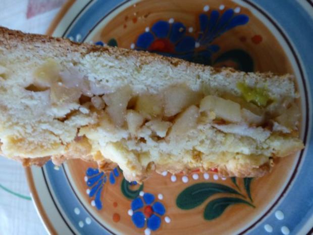 Apfel-Rhabarber-Streuselkuchen - Rezept - Bild Nr. 2