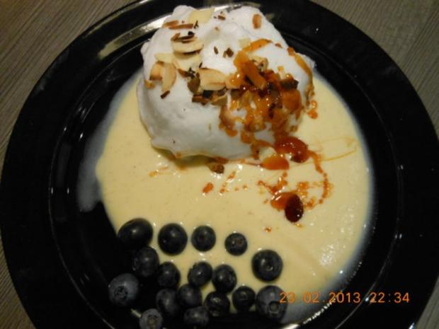 Dessert: Schnee-Eier mit Vanille Creme - Rezept