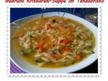 Suppe: Kritharakisuppe im Tandoori-Stil - Rezept