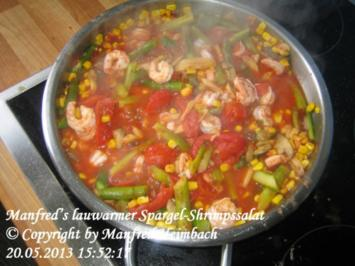 Spargel – Manfred's lauwarmer Spargel-Shrimpssalat - Rezept