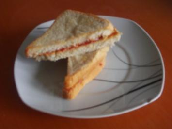 Rezept: Erdnussbutter- Sandwich