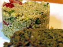 Hähnchenbrust unter Kürbiskernhaube mit Quinoa-Salat - Rezept