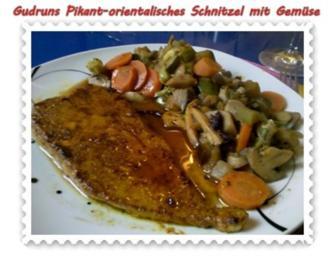 Fleisch: Schnitzel orientalisch mit Gemüse - Rezept