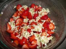 Erdbeere - Holunderblüten - Minze - Marmelade - Rezept