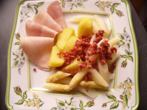 Frischer Spargel mit Kartoffeln und gekochtem Schinken - Rezept - Bild Nr. 3
