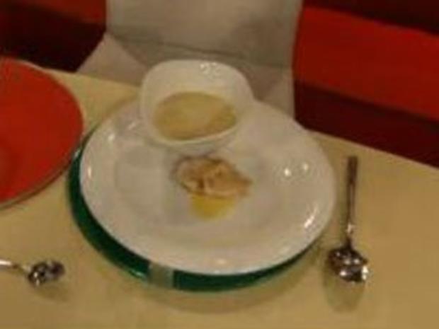Cremesuppe von der Schwarzwurzel mit Curryhuhn à la de Santis - Rezept