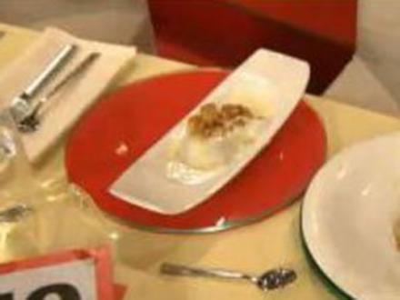 Kabeljau mit Birnen-Pinien-Chutney und Beurre blanc à la de Santis - Rezept
