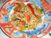 Wokgemüse mit Räuchtofu und Chinese Noodels - Rezept