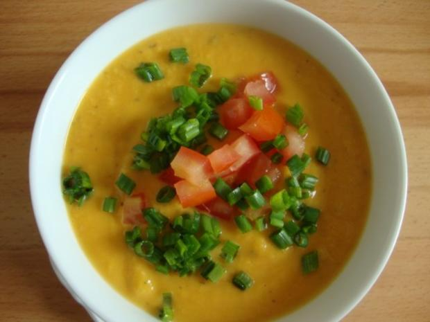 """Süßkartoffelsüppchen mit """"Tomaten Topping"""" - Rezept - Bild Nr. 3"""
