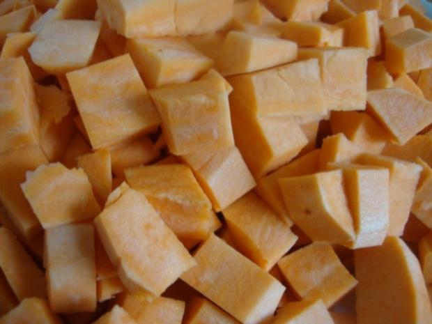 """Süßkartoffelsüppchen mit """"Tomaten Topping"""" - Rezept - Bild Nr. 6"""