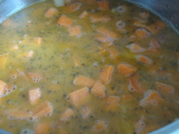 """Süßkartoffelsüppchen mit """"Tomaten Topping"""" - Rezept - Bild Nr. 11"""