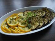 Thymianhonig-marinierte Auberginen und Zucchini - Rezept
