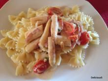 Pasta mit SPARGEL-Sahne-Soße - Rezept