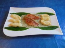 Kochen: Rotbarbenfilet an Bärlauchsoße und Gnocchi - Rezept