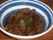 Rinderleber mit Sherryglasur - Rezept