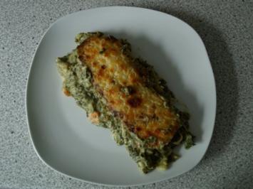 Canneloni mit Spinat und Garnelen - Rezept