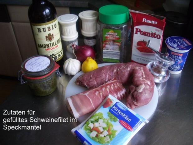 Gefülltes Schweinefilet im Speckmantel - Rezept - Bild Nr. 2