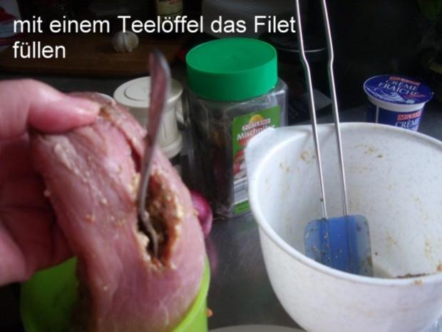 Gefülltes Schweinefilet im Speckmantel - Rezept - Bild Nr. 7