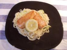 Zitronen-Spaghetti mit Lachs - Rezept
