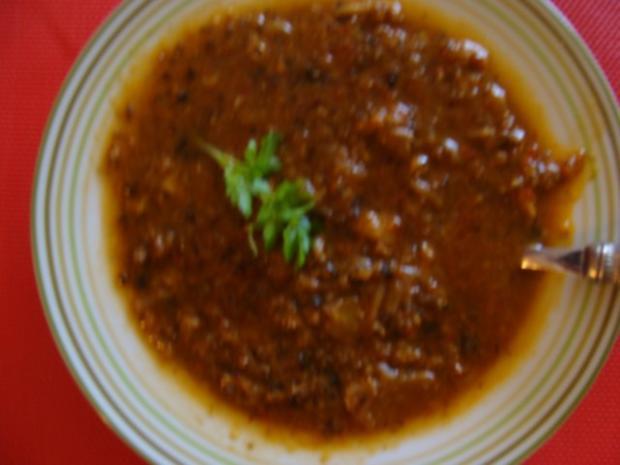 Suppen : Asia- Suppe Süßsauer und scharf. - Rezept