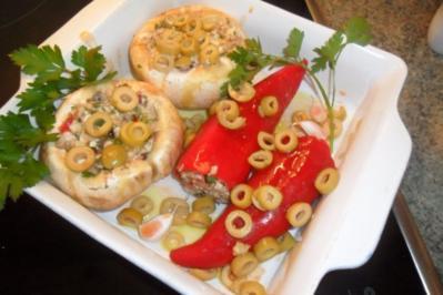 champis und paprika gefüllt - Rezept