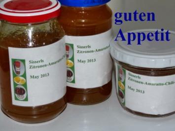 Sisserl's * Zitronen - Amaretto - Chili - Gelee * - Rezept