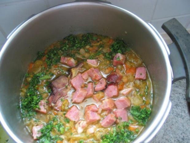 Suppen + Eintöpfe: Restlicher Erbseneintopf - Rezept