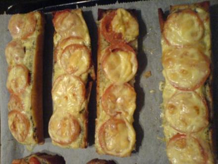 warme Tomaten-Käse Baguettes - Rezept