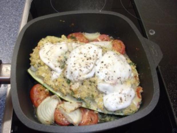 gefüllte zucchini couscous