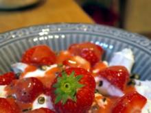 Büffelmozzarella und Erdbeeren - Rezept