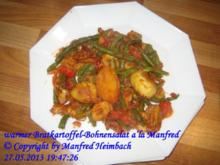 Salat – warmer Bratkartoffel-Bohnensalat a'la Manfred - Rezept