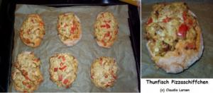 Thunfisch Pizzaschiffchen (WW 4 Punkte) - Rezept