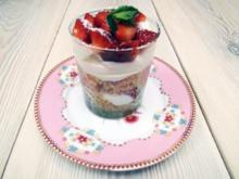 Erdbeer-Käsecreme-Parfait - Rezept