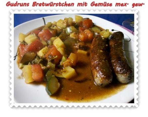 Fleisch: Bratwürstchen mit Gemüse - mexikanisch gewürzt - Rezept