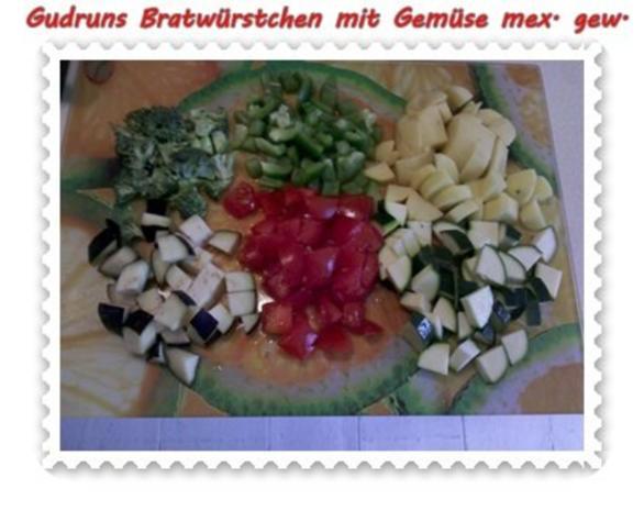 Fleisch: Bratwürstchen mit Gemüse - mexikanisch gewürzt - Rezept - Bild Nr. 3