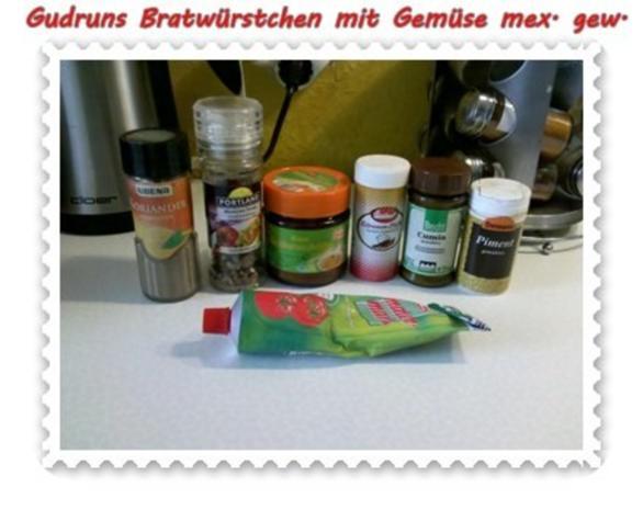 Fleisch: Bratwürstchen mit Gemüse - mexikanisch gewürzt - Rezept - Bild Nr. 5