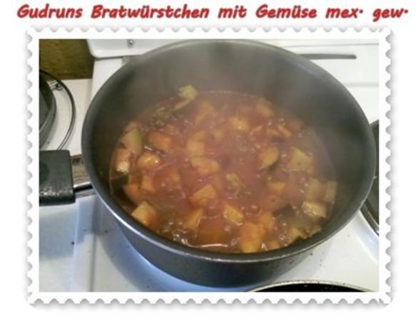 Fleisch: Bratwürstchen mit Gemüse - mexikanisch gewürzt - Rezept - Bild Nr. 7