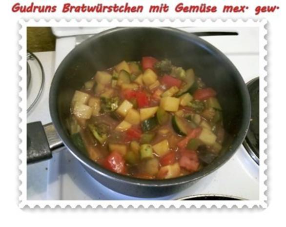 Fleisch: Bratwürstchen mit Gemüse - mexikanisch gewürzt - Rezept - Bild Nr. 8