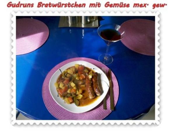 Fleisch: Bratwürstchen mit Gemüse - mexikanisch gewürzt - Rezept - Bild Nr. 9