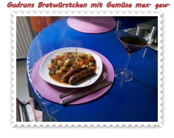 Fleisch: Bratwürstchen mit Gemüse - mexikanisch gewürzt - Rezept - Bild Nr. 10