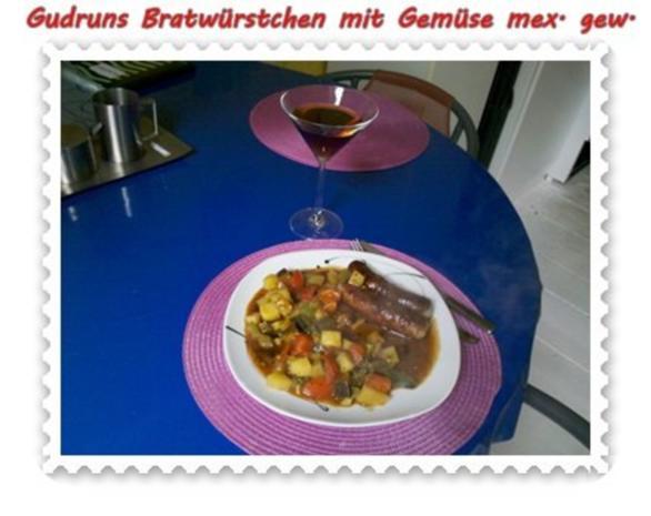 Fleisch: Bratwürstchen mit Gemüse - mexikanisch gewürzt - Rezept - Bild Nr. 11
