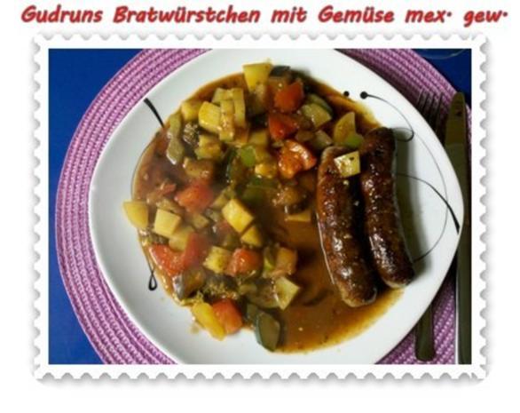 Fleisch: Bratwürstchen mit Gemüse - mexikanisch gewürzt - Rezept - Bild Nr. 12