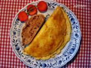 Omelett von grünschaligen  Eiern pikant - Rezept