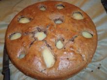 Versunkener Schoko-Birnen-Kuchen - Rezept